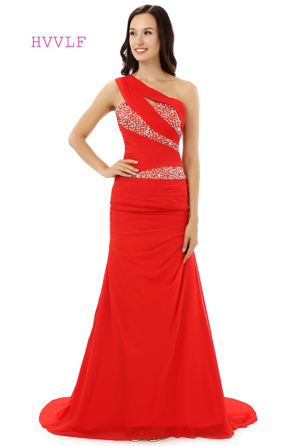 High quality wholesale maternity prom dresses from china maternity one shoulder evening dresses 2017 mermaid chiffon beaded crystals maternity women long evening gown prom ombrellifo Images