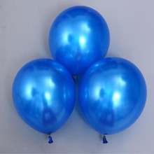 Blue balloons 50pcs/lot12 inch 3.2g round pearl latex air ballon wedding decorations kuds birthday party balloon baby shower