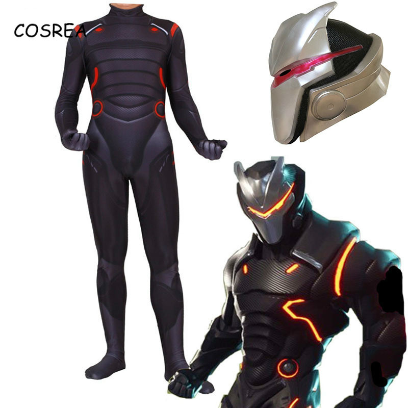Kids Adult Game Fortnight Cosplay Costume Mask Omega Oblivion Link Zentai Jumpsuits Men Halloween Christmas Costumes Women Kids