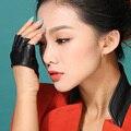 Party girls cosplay guantes de cuero de Halloween mujeres sin dedos calientes del estilo del vestido mitones medio