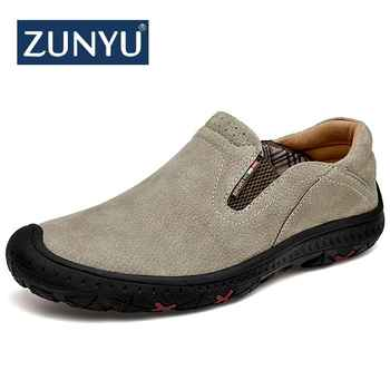 ZUNYU Spring New Fashion Brand Men Shoes Luxury Men Genuine Leather Shoes Casual Men Shoes Male Leather Shoe Slip On Men Loafers - DISCOUNT ITEM  44 OFF Shoes