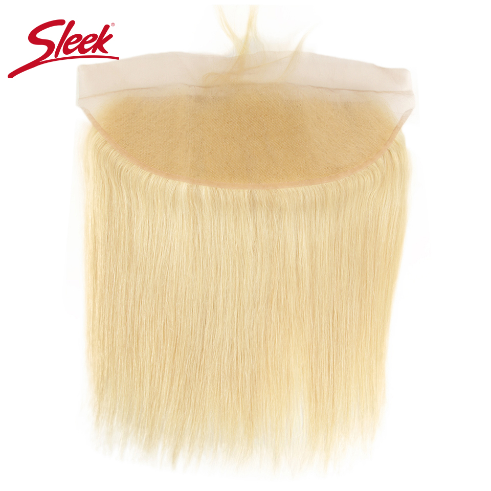 Sleek Malaysia Straight 613 Honey Blonde Lace Frontal Closure 13x4 Ear To Ear Frontal 100% Remy Human Hair Lace Frontal 8-20 Elegant And Graceful Closures Human Hair Weaves