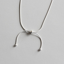 Ruifan High Quality 100% 925 Sterling Silver Bowknot Pendant Choker Necklace Women Authentic Jewelry YNC058
