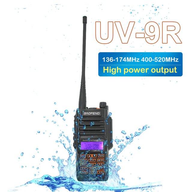 Baofeng UV 9R рация 2200 мАч IP67 Водонепроницаемый 136 174/400 520 МГц двухдиапазонный двойной режим ожидания двухстороннее радио UV9R