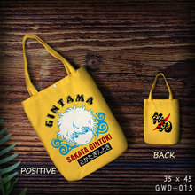 2018 Hot Sale Gintama Sakata Gintoki Cute Anime Cartoon Cotton Bag Foldable Shopping Customized With Own Logo Wholesale Grocery