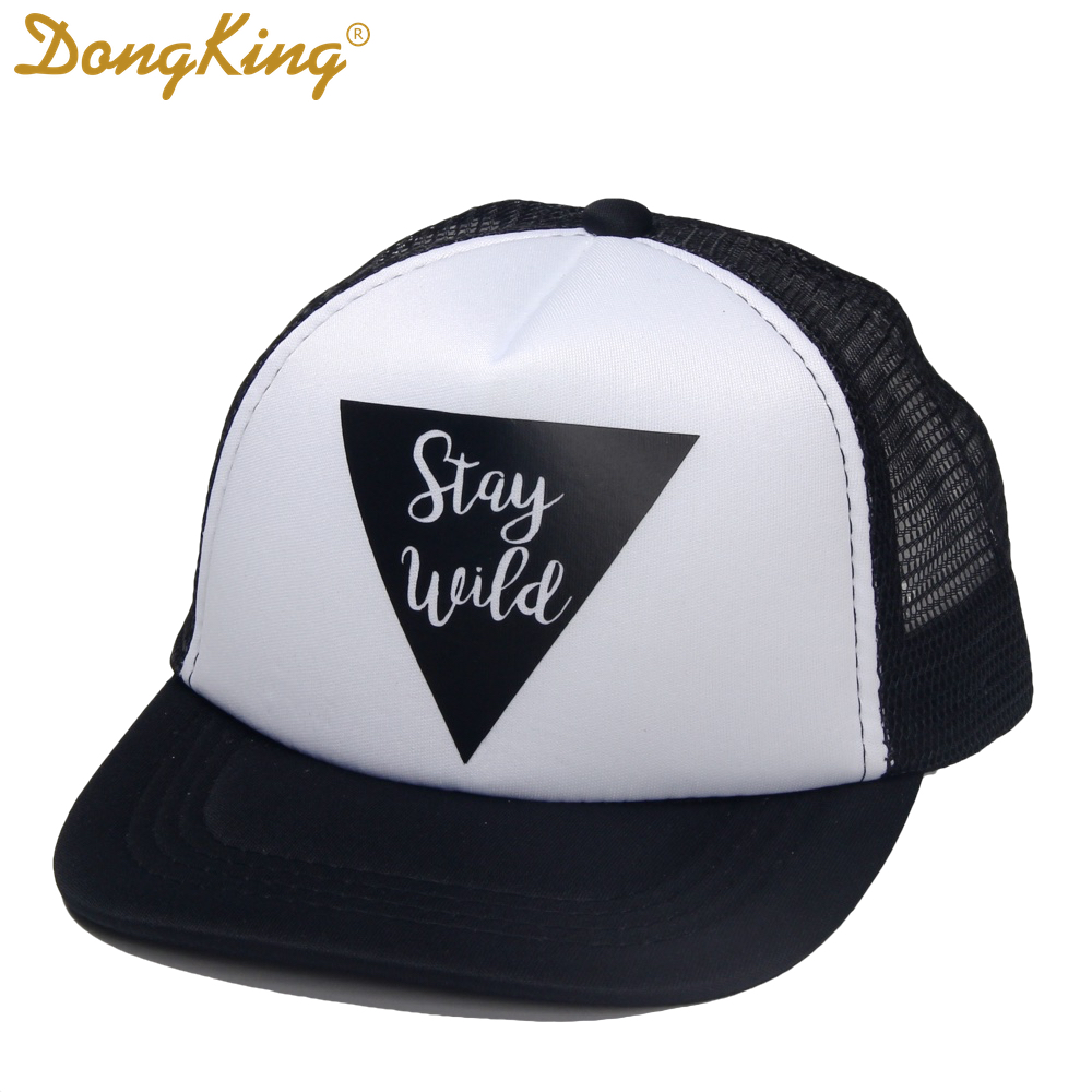490d5867267 DongKing Kids Trucker Hat Stay Wild Print Trucker Cap Child Baby Son ...