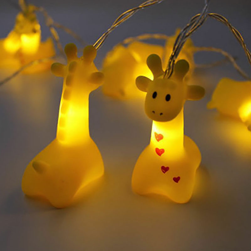 1 5M 10LED Pet Giraffe Night lamp Christmas Garland Fairy String Lights for Kid Children 39 s Room Party Wedding Decoration in Holiday Lighting from Lights amp Lighting