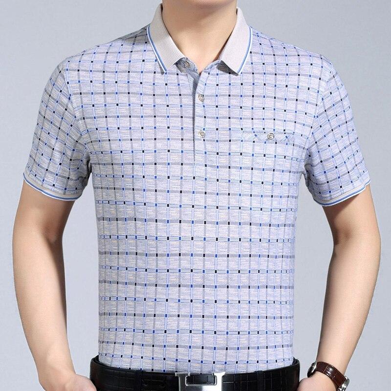 2018 new mens clothing short sleeve   polo   shirt summer pol men plaid brands   polos   tee shirts dress streetwear male poloshirt 9158
