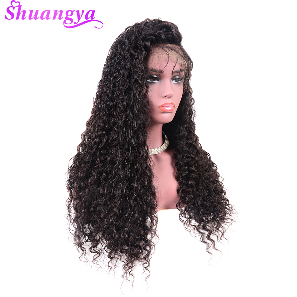 150 Density Lace Frontal Wigs Pre Plucked With Baby Hair Malaysian Water Wave Lace Front Human