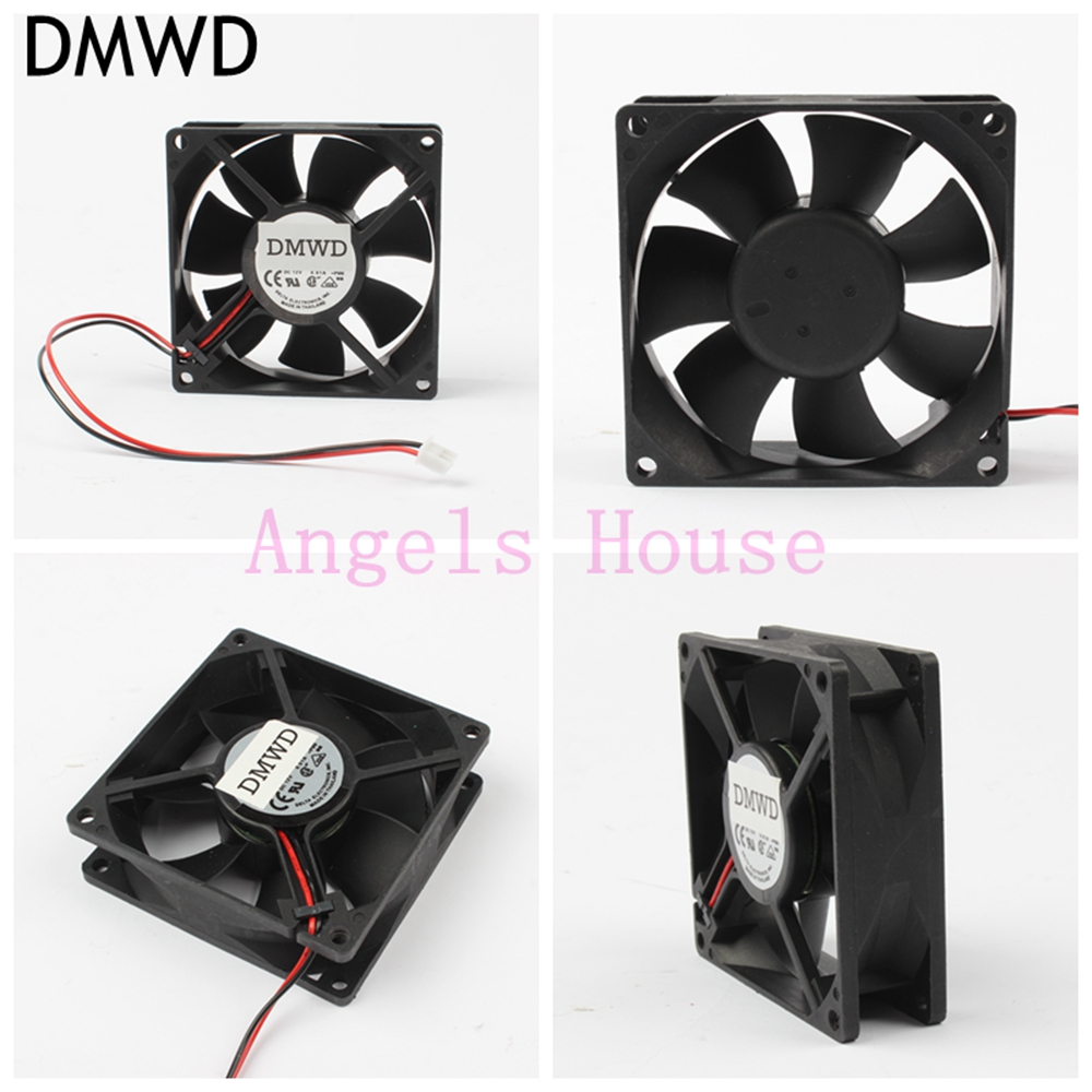 DMWD Free Shipping 12v 80mm fan 0.51A 4000RPM connector DC cooling fan radiator high quality exhaust fan 8025 new sanyo denki san ace 9wp0812h401 denk 8cm 8025 12v cooling fan