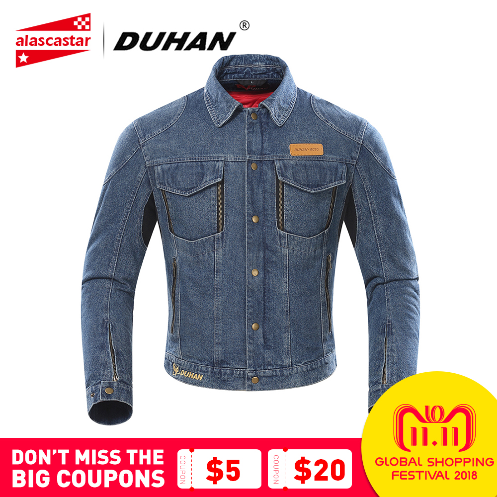 DUHAN Autumn Winter Motorcycle Jacket Men Denim Jacket Riding Jacket Moto Protective Gear Cold-proof Keep Warm Casual Clothing duhan motorcycle jacket moto men winter waterproof cold proof biker jacket men motorbike riding clothing jacket racing