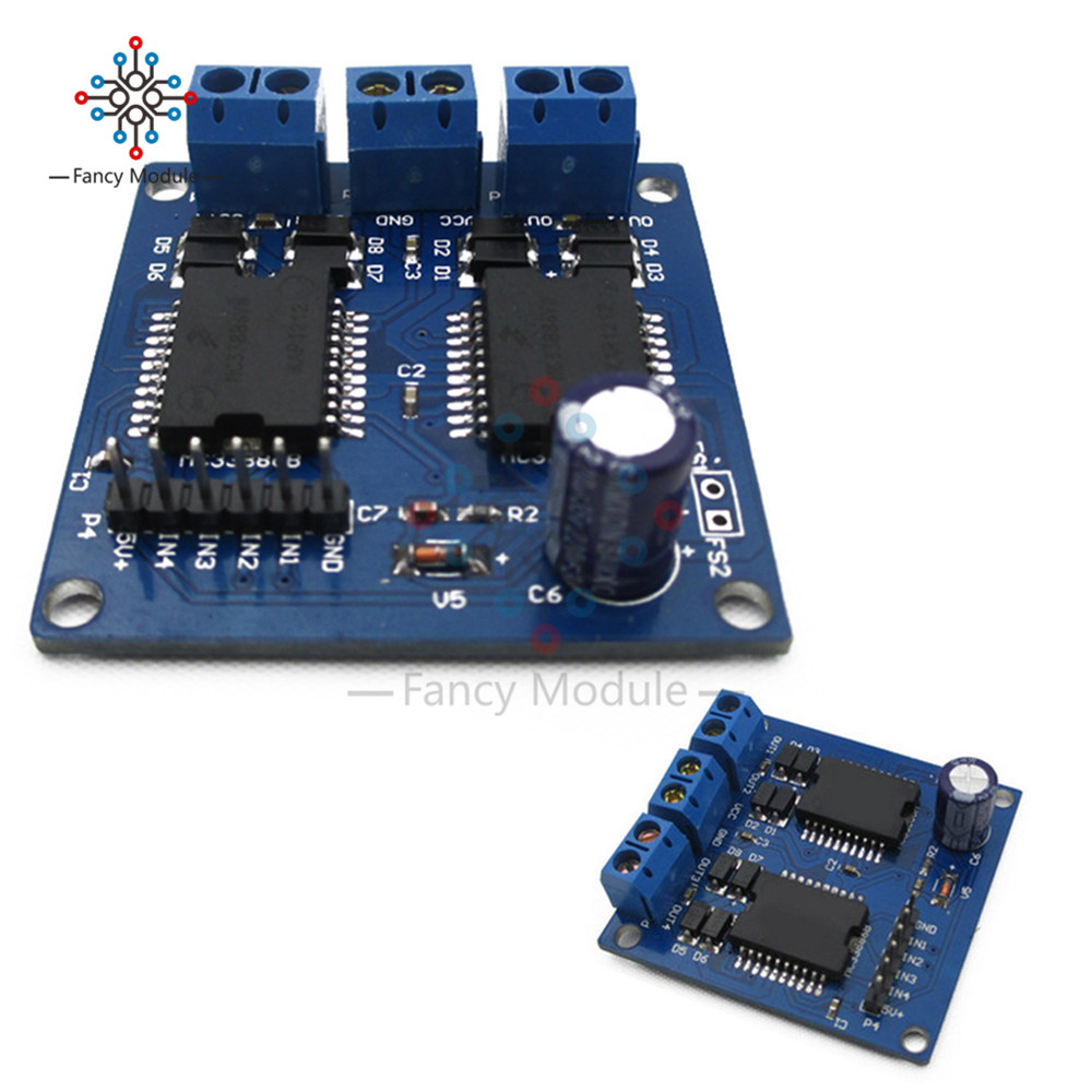 New Dual MC33886 DC Motor Driver Module 5A For Robot Smart Car 5-12V Stepper Motor Driver Board