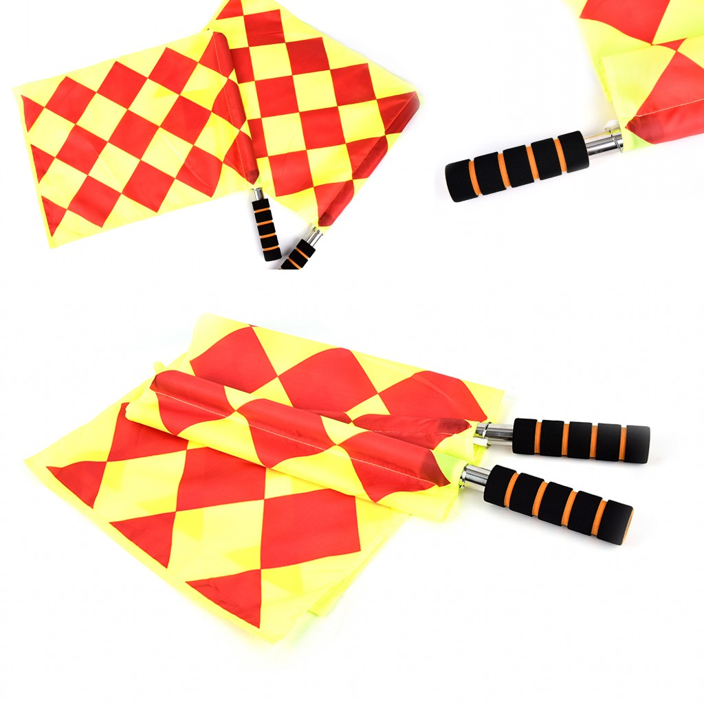 New The World Cup Soccer Referee Flag Fair Play Sports Match Football Linesman Flags Referee Equipment + Carry Bag Wholesale