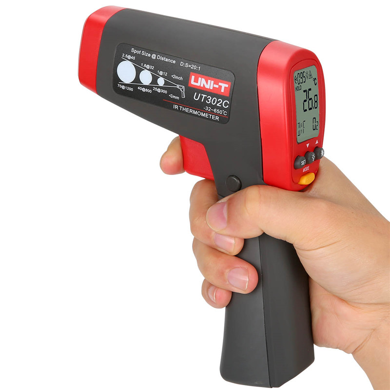 UNIT Pyrometer UT302A Infrared thermometer -32-450 Celsius infrared thermometer gun handheld non-contact IR thermometer
