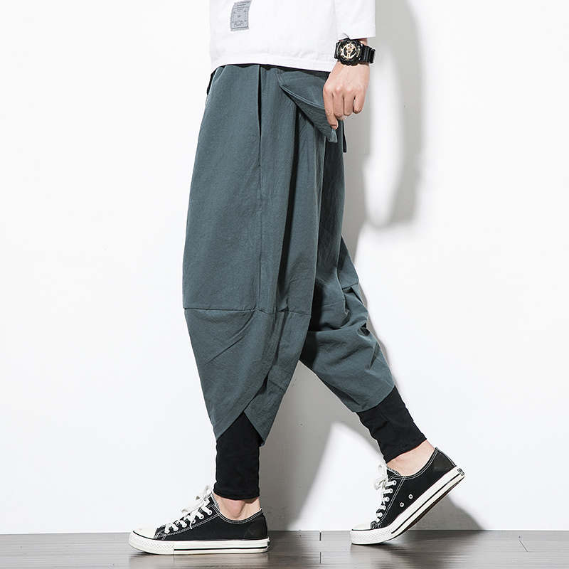2018 Herbst Neue Jugend Mode Für Männer Lose Kleine Füße Krawatte Mit Hosen Chinesischen Stil Einzelnen Casual Hosen