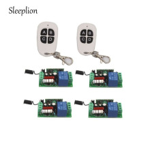 Sleeplion Home AC 220V 10A 1CH Relay 2 4-key Wireless RF Remote Switch Transmitter+4 Receiver Power ON/OFF 315MHz/433MHz