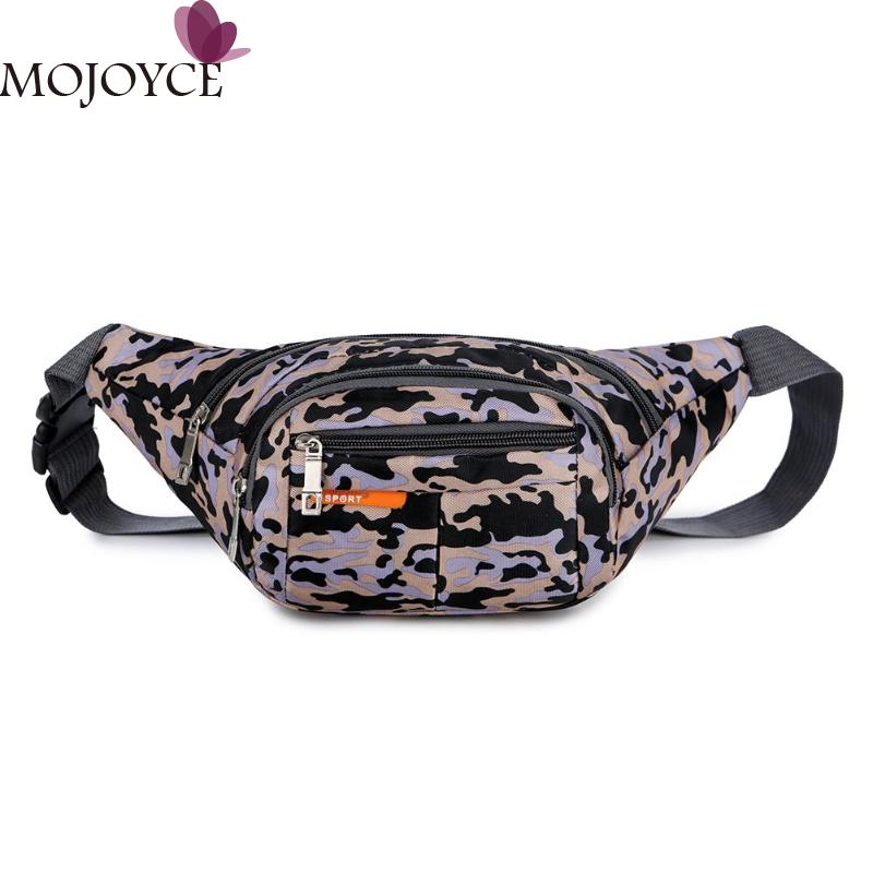 Women Men Casual Fashion Waterproof Camo Print Shoulder Bags Unisex Nylon Multi-function Waist Fanny Packs Chest Crossbody Bags