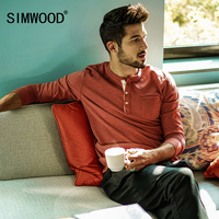 SIMWOOD 2017 New Autumn Men Long Sleeve T Shirt 100 Cotton High Quality Pullover Casual Fashion
