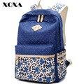 Xqxa mulheres mochila para a escola do adolescente meninas leopardo impresso saco de lona mochilas femininas mochila diariamente feminia