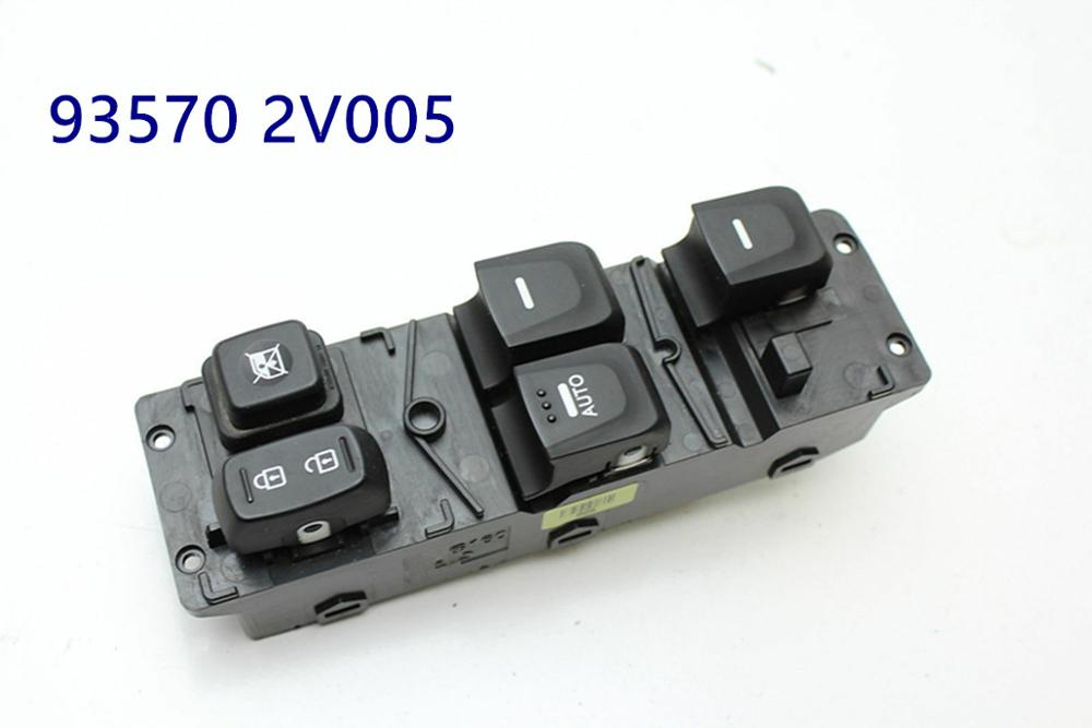 Drivers side left master window Glass lifting control switch for hyundai VELOSTER 2012-2014 935702V005 93570 2V005Drivers side left master window Glass lifting control switch for hyundai VELOSTER 2012-2014 935702V005 93570 2V005