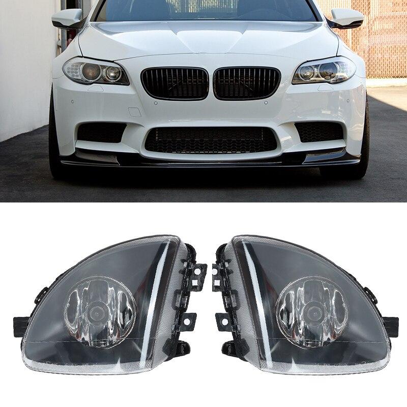 2Pcs Left & Right Car Fog Light W/ Lamp Housing for BMW 5 SERIES F10 2010-2014 jicosmoslu front left right fog light lamp anti fog lamp light lifan smily 320 f4116100 f4116100a2 f4116200 f4116200a2