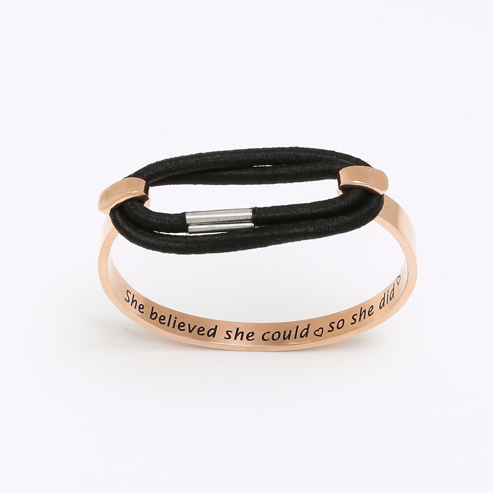 inspirational index bracelet leather amazing grace