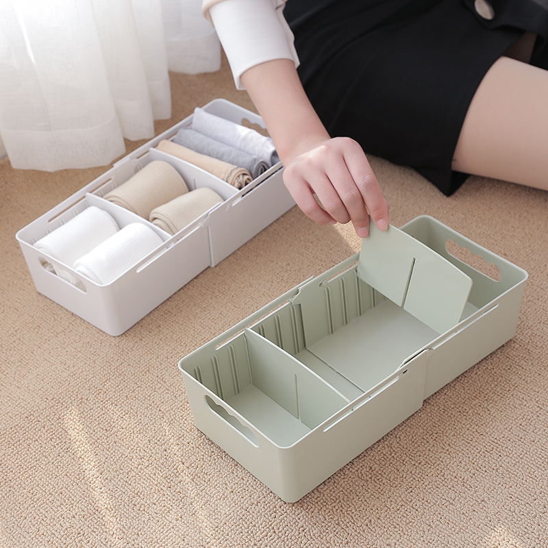 050 Useful home Adjustable three cases panties, socks, storage boxes desktop finishing boxes