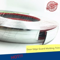 Accessories 30mmx15m Car Styling Sticker Silver Door Chrome Strip Automobile Windows Grill Bumper Body Strip Anti collision