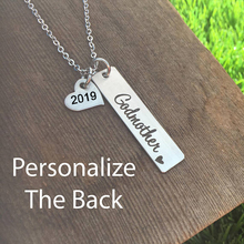 2019 New Arrival Godmother Pendant Necklace Custom Any Words On The Back Gift Jewelry Birthday