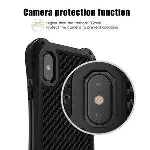 Image 4 - R JUST Shockproof Armor Telefoon Geval Voor Apple iphone X 8 7 6 Plus 5 5 s Luxe Waterdichte Harde Gevallen voor iphone XS XR XS Max Coque
