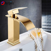 Basin Faucet Water Tap Bathroom Faucet Nickel Brass Chrome Gold Faucets Single Handle Hot Cold Water Sink Tap Mixer