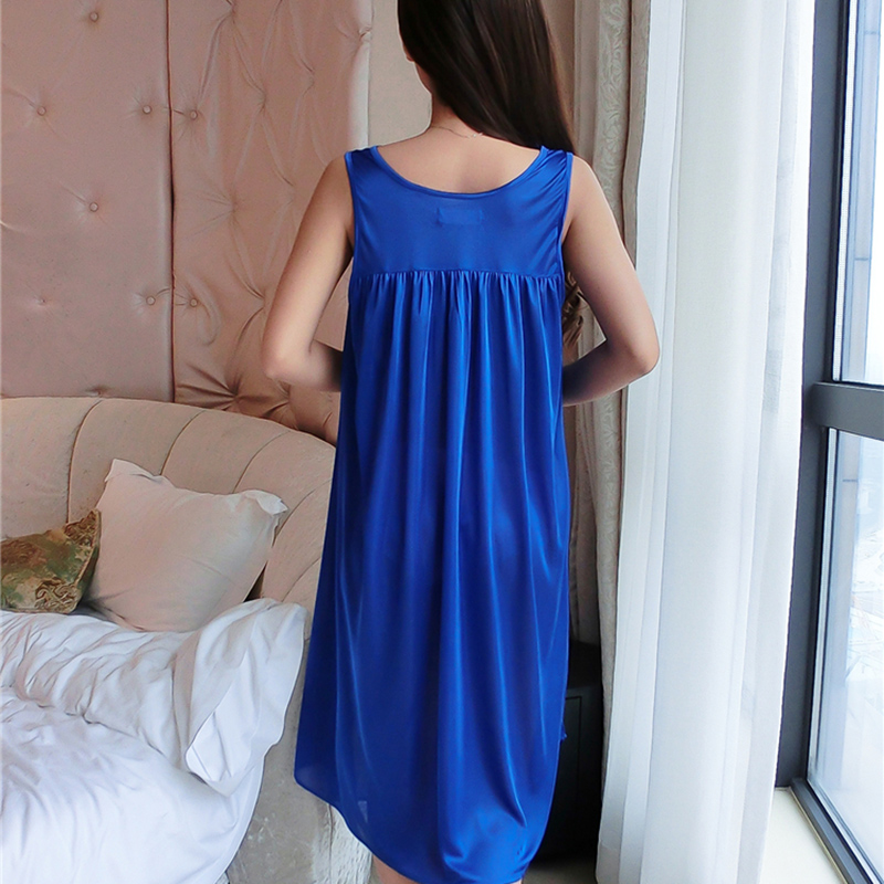 Hot Women Night Gowns Sleepwear Nightwear Long Sleeping Dress Luxury Nightgown Women Casual Night Dress Ladies Home Dressing Z79 6
