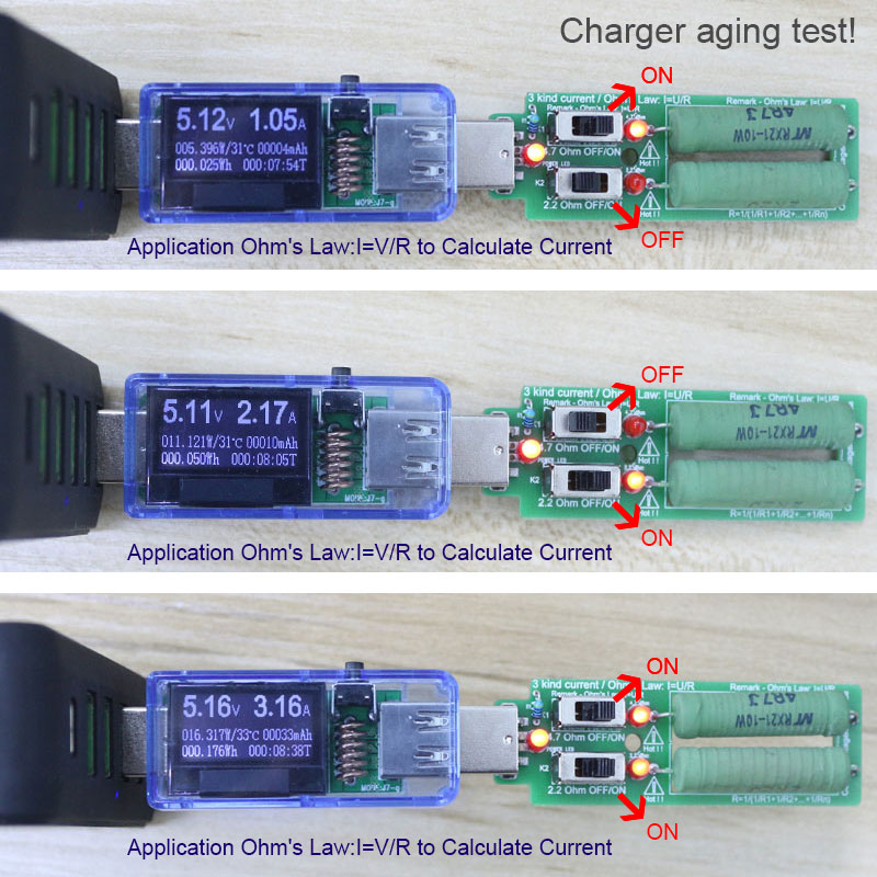 Tester USB ATORCH + obciążenie DC Cyfrowy woltomierz amperymetr - Przyrządy pomiarowe - Zdjęcie 2