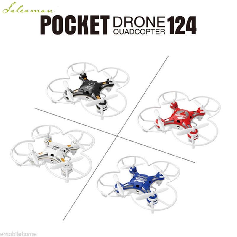 Mini RC Drone 2.4G 4CH-Axis Gyro RTF Telecomando Tasca Quadcopter Drone Elicottero RC Giocattoli Per i bambini