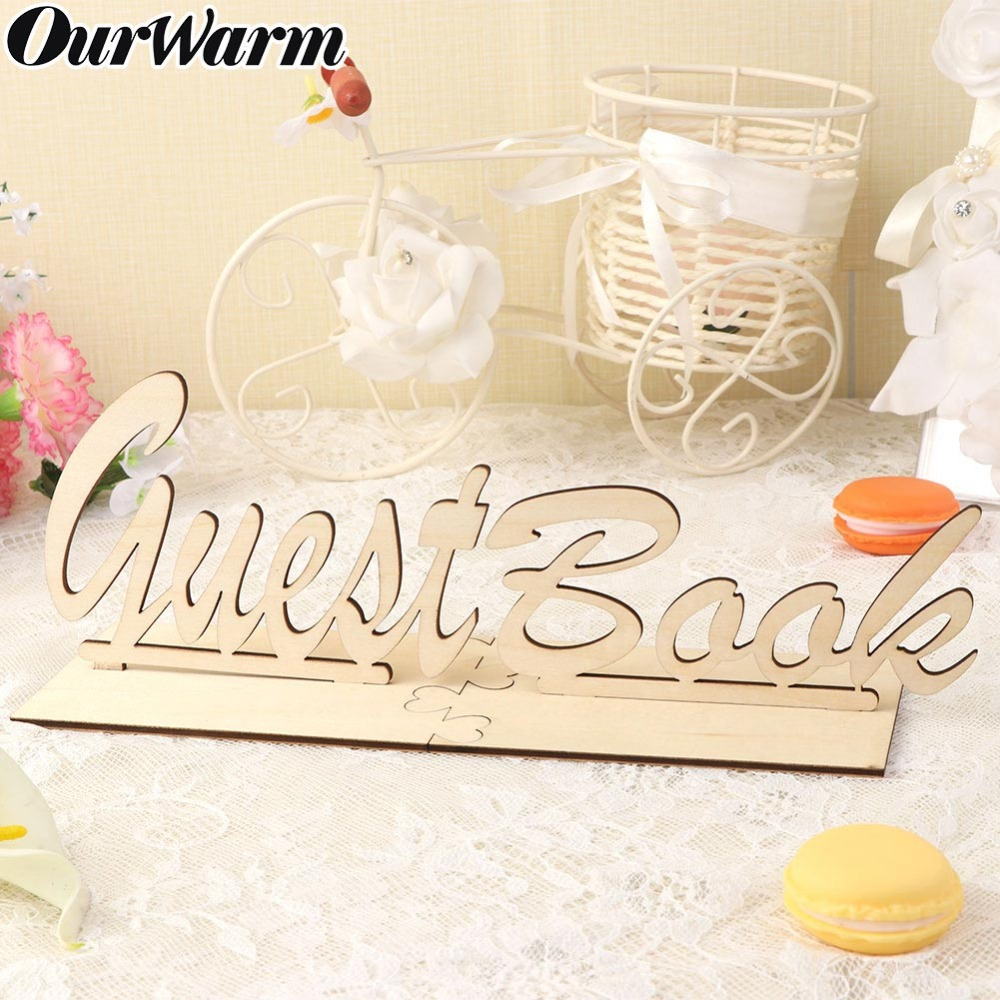 Us 2 27 43 Off Ourwarm Rustic Wooden Guest Book Wedding Sign Table Guestbook Sign Wedding Birthday Baby Shower Party Diy Table Decoration In Party