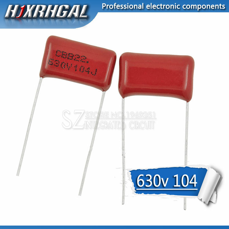 10PCS 630V104J Pitch 15mm 0.1UF 100nf 630V 104 CBB Polypropylene Film Capacitor Hjxrhgal