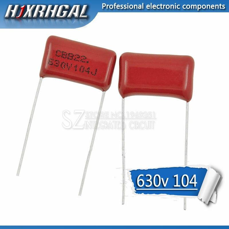 10PCS 630V104J Pitch 15mm 0.1UF 100nf 630V 104 CBB Polypropylene Film Capacitor Hjxrhgal