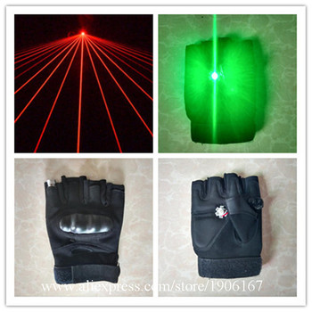 Red Laser Man Show Gloves With Palm Led Green Lights For Halloween Dancing Stage Show Light DJ Club Party