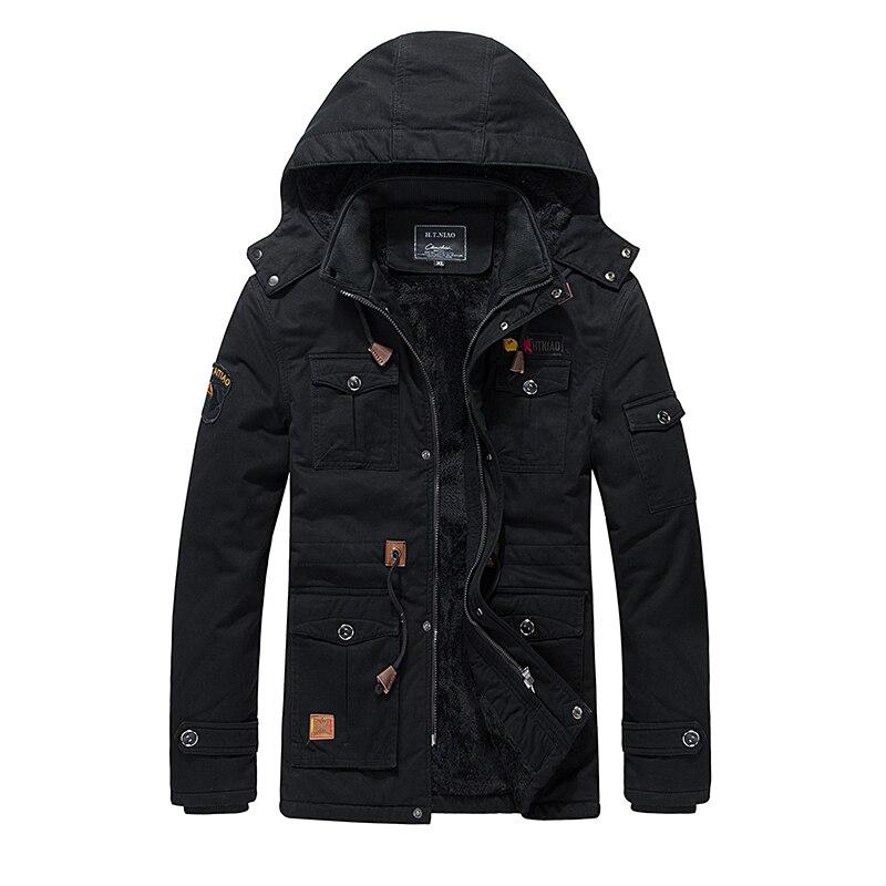 ФОТО High quality 2016 military Winter Men thick warm parka Hooded fur jacket mens warm fleece cotton Parkas winter jacket for men