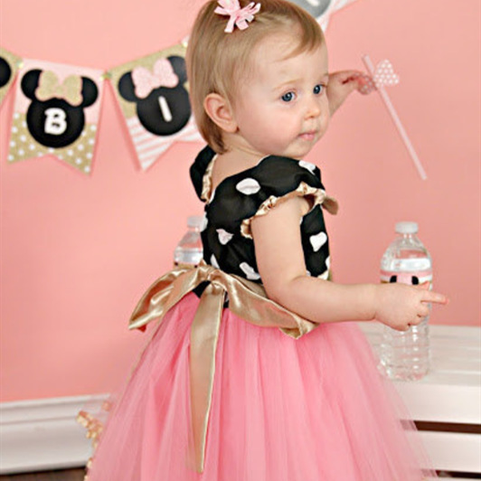 2018 Children's clothing new Girl dress cartoon Minnie Mouse performance dress children's Day dress net yarn 2017 new elecom 2 4g mini mouse vwith charging for home office general balls the mouse girl