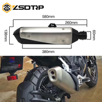 ZSDTRP 60MM Inlet Motorcycle For BMW S1000XR R1200 GS Benelli TRK502 Exhaust Pipe Muffler Slip On Exhaust Stainless Steel