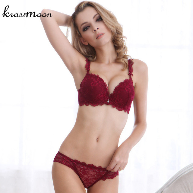 79caa9fcecdac 2018 New Sexy Underwear Women Bra Set Luxury Full Lace Lingerie Set Vintage  Embroidery Push Up Bra And Panty Set BS321