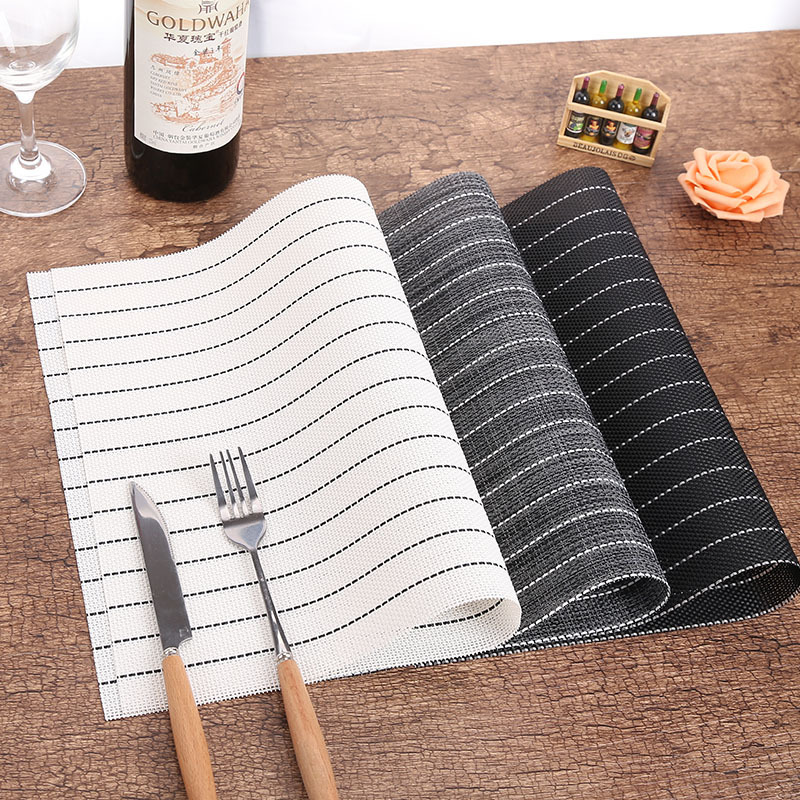 4pcs/lot Restaurant Insulation Placemat Table Mat Disc Pad Bowl Pad Coaster Waterproof Tablecloth Decoration PVC Mat 45*30CM