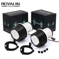 ROYALIN Bi Xenon Fog Light Projector Lens for Mazda 3 6 CX5 Axela Atenza 2.5'' Full Metal H11 HID Bulbs Car Styling 4300K 5000K