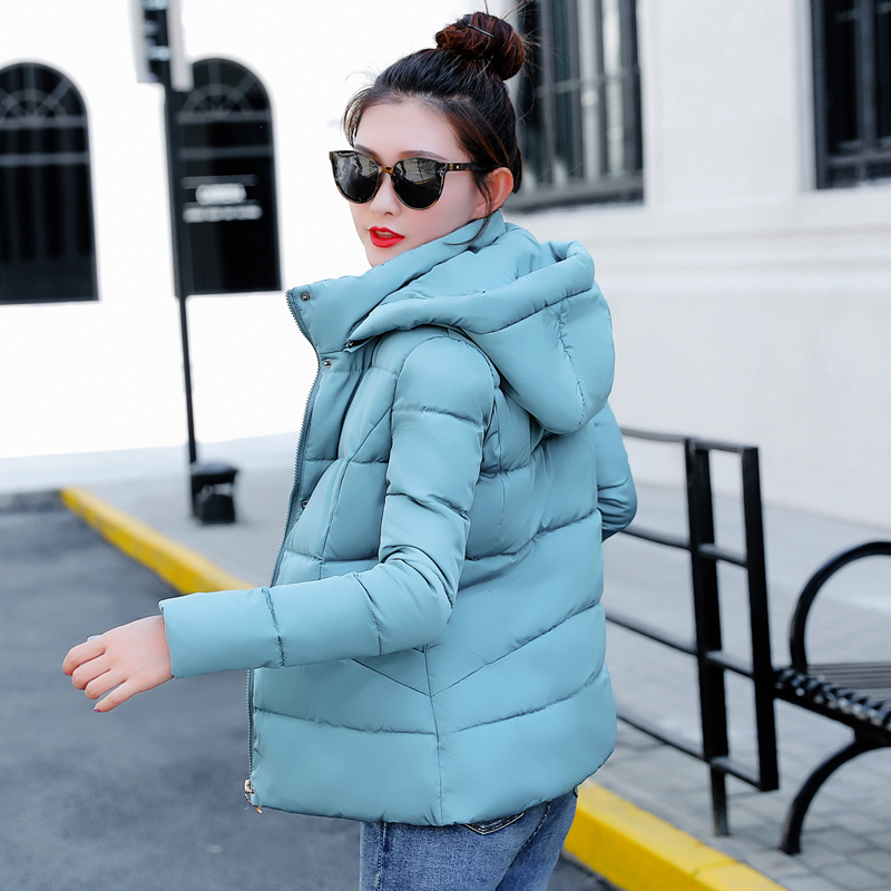 Winter Jacket women 2018 Plus Size Womens Parkas Thicken Outerwear solid hooded Coats Short Female Slim Cotton padded basic tops