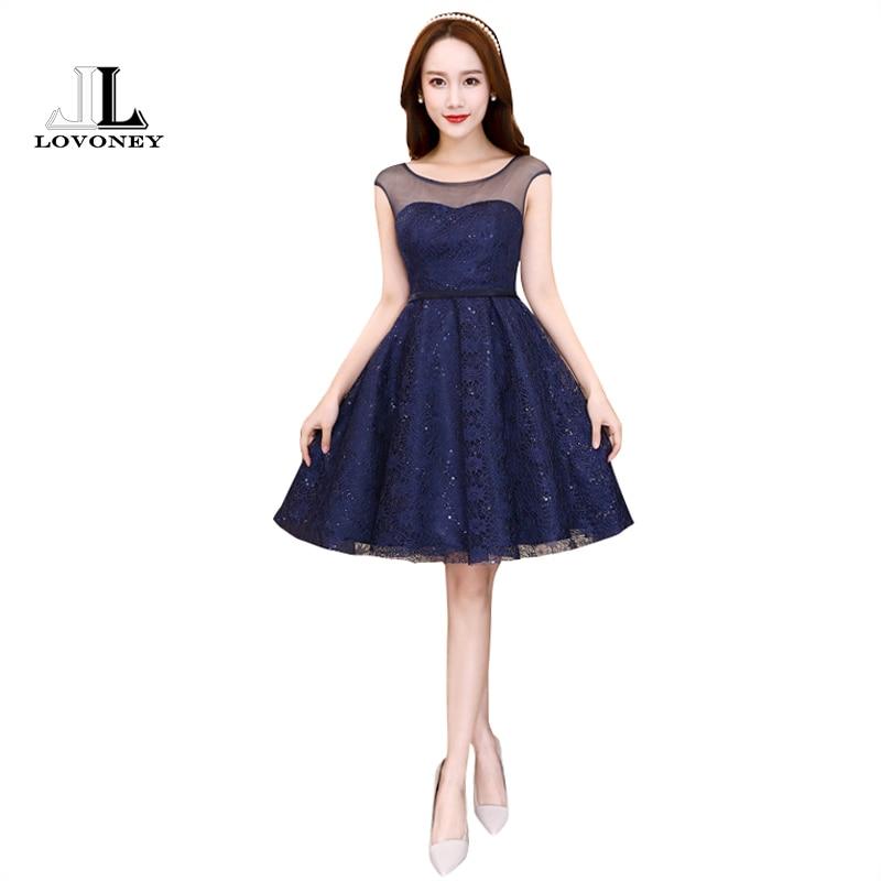 Lovoney knee length short cocktail dresses 2017 new for Formal dresses for weddings cheap