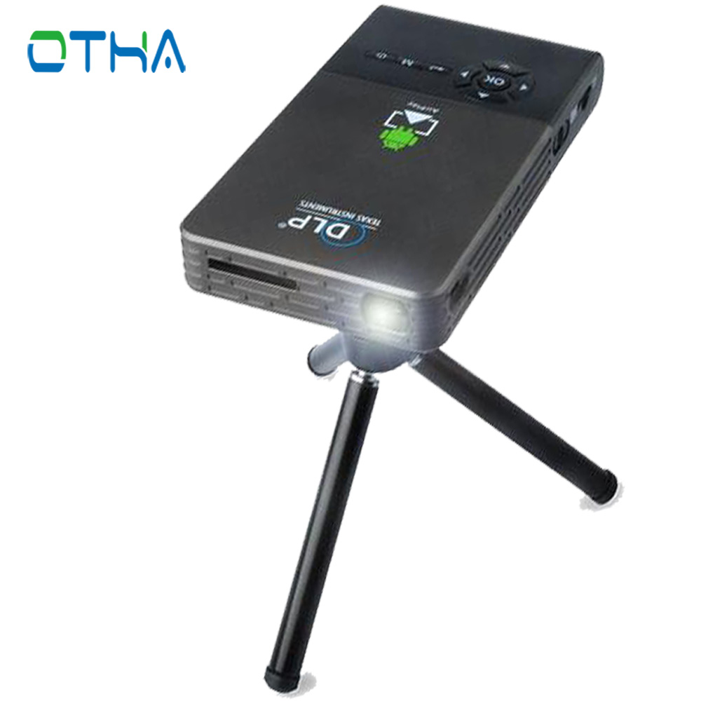 OTHA Mini Projector HDMI In Full HD1080p Home Theater Android WiFi Bluetooth Smart DLP Projector for School Buisness Proyector