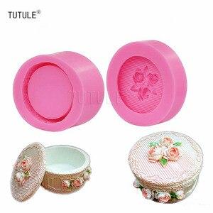 Image 5 - Moule de stockage de fleurs en Silicone, forme ronde, pour bricolage, moule Fondant en céramique, en résine, en argile, moule pour boîte à bijoux de style Pastoral, Gadgets