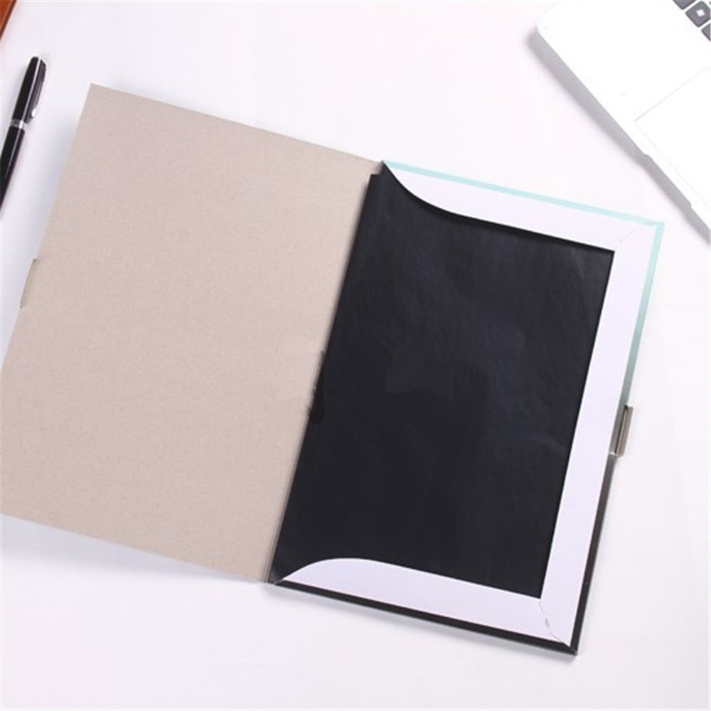 100pcs/box A4 Black Carbon Stencil Transfer Paper Double Sided Hand Pro Copier Tracing Hectograph Repro 33x21.5cm