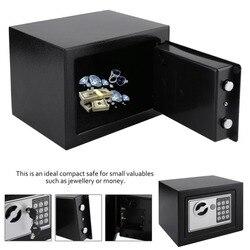 Caixa segura eletrônica de aço sólido com bloqueio do teclado digital 4.6l mini lockable dinheiro caixa de armazenamento de jóias caso de armazenamento seguro